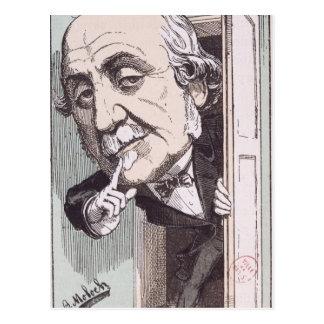 Karikatur von Albert, Duc de Broglie Postkarte
