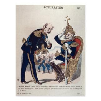 Karikatur von Kaiser Wilhelm von Preußen Postkarte