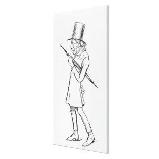 Karikatur von Soren Aabye Kierkegaard Leinwand Drucke