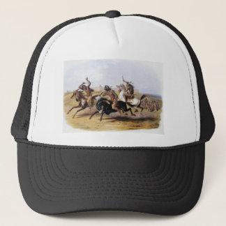 Karl Bodmer - Pferderennen der Sioux Truckerkappe
