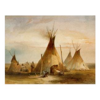 Karl Bodmer- Sioux Teepee Postkarte