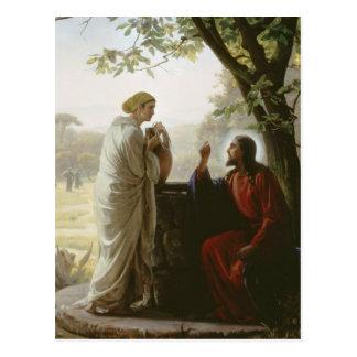 Karl Heinrich Bloch - Frau am Brunnen Postkarte