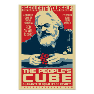 Karl Marx - der Würfel der Leute: OHP Plakat