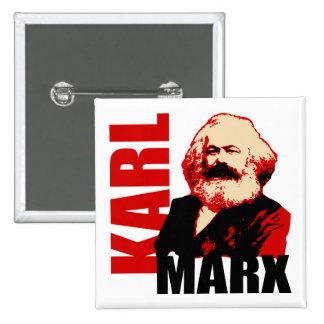 Karl Marx, Sozialist u. Kommunist Quadratischer Button 5,1 Cm