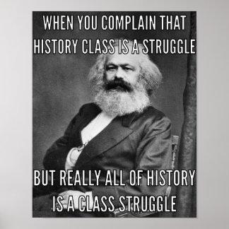 Karl Marx und der Kampf Poster