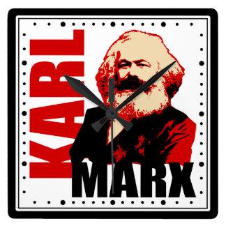 Karl- Marxporträt-Quadrat-Wanduhr Uhr