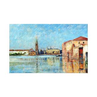 Karl Skånberg der Palast-venezianische Kanal-Szene Leinwanddruck