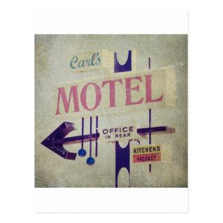Karls Retro Motel-Zeichen Postkarte