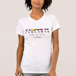 Karlsbad CA - Dorf durch das Meer T-Shirt