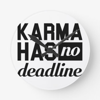 Karma-Frist Runde Wanduhr