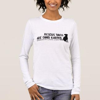 Karma-Kragen-Logo T Langarm T-Shirt