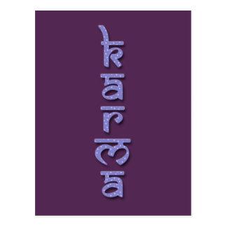 Karma - lila postkarte