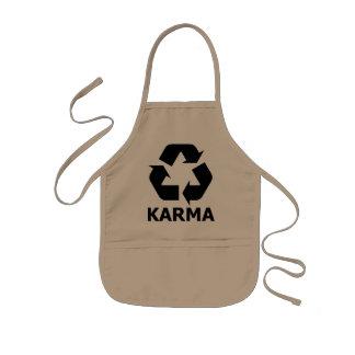 Karma recyceln kinderschürze