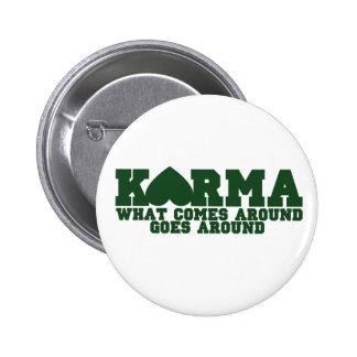 Karma Runder Button 5,1 Cm