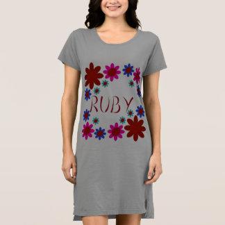 KARMINROTE Blumen Kleid