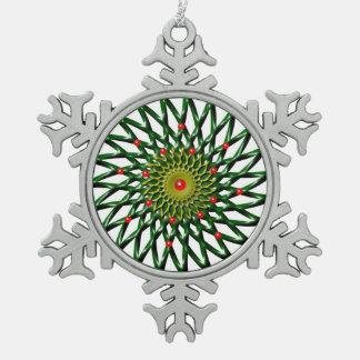 Karminrote Blumen-Zinn-Schneeflocke-Verzierung Schneeflocken Zinn-Ornament