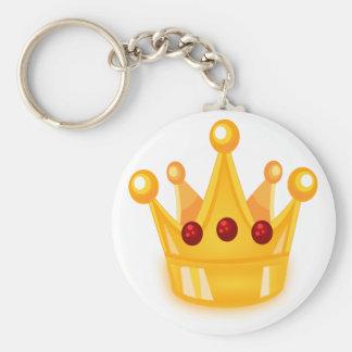 Karminrote Krone Schlüsselanhänger