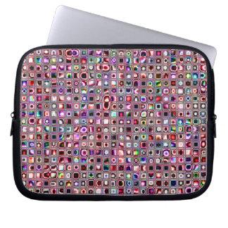 """Karminrote rote """"Bijoux"""" maserten Mosaik-Fliesen-M Computer Sleeve Schutzhüllen"""
