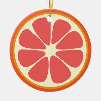 Karminrote rote Pampelmusen-saftige süße Keramik Ornament