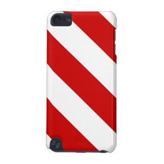Karminrote rote Streifen iPod Touch 5G Hülle