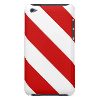 Karminrote rote Streifen iPod Touch Case-Mate Hülle