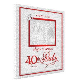 Karminroter Hochzeits-Jahrestag - Foto 11x11-inch Galerie Gefaltete Leinwand