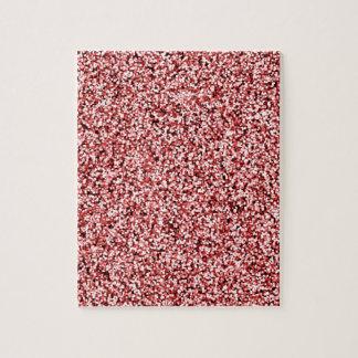 Karminroter roter Imitat-Glitter Puzzle
