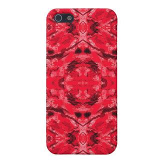 Karminroter roter Kaleidoskop-Tätowierung Iphone Schutzhülle Fürs iPhone 5