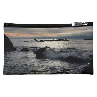 Karminroter Strand-olympischer Nationalpark Cosmetic Bag