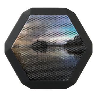 Karminroter Strand-Sonnenuntergang | olympisches Schwarze Bluetooth Lautsprecher
