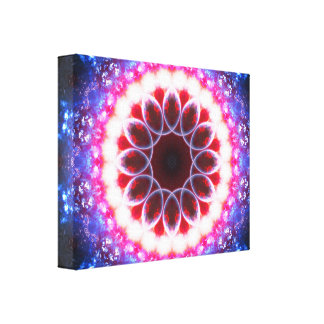 Karminrotes Energie-Portal Leinwanddruck