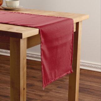 Karminrotes Rot Kurzer Tischläufer