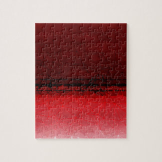 Karminrotes rotes geometrisches Ombre Muster Puzzle