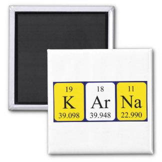 Karna Periodensystem-Namenmagnet Quadratischer Magnet