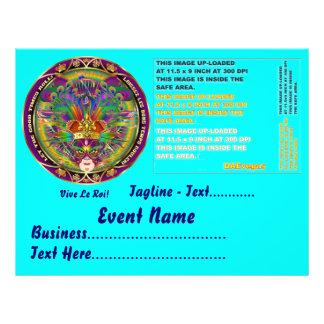 """Karneval 8,5"""" x 11"""" Landschaft sieht bitte Anmerku Personalisierte Flyer"""