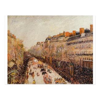 Karneval auf den Boulevards durch Camille Pissarro Postkarte