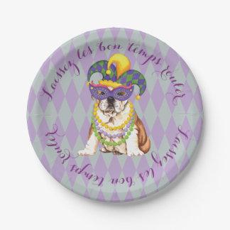 Karneval-Bulldogge Pappteller