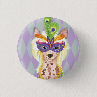 Karneval-Chinese Crested Runder Button 2,5 Cm