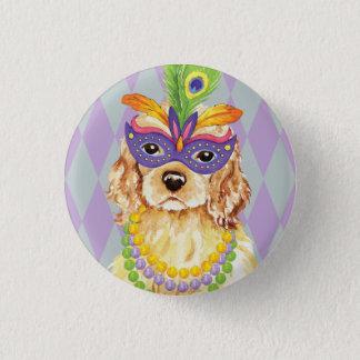 Karneval Cocker spaniel Runder Button 2,5 Cm