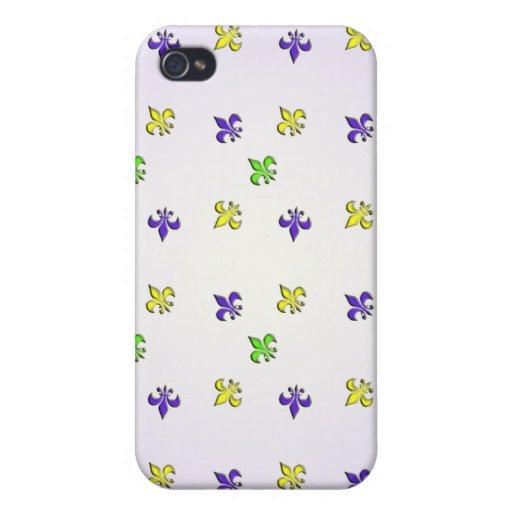 Karneval-Farben Fleur De Lys iPhone 4/4S Case