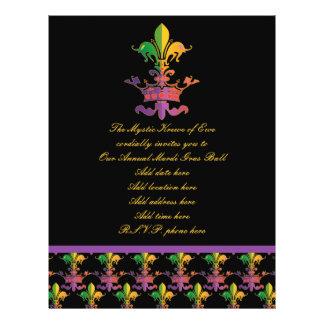Karneval Fleur de Crown 21,6 X 27,9 Cm Flyer