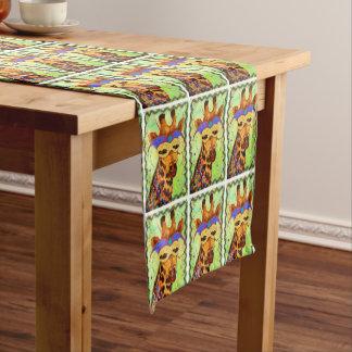Karneval-Giraffen-Tabellen-Läufer Kurzer Tischläufer