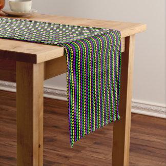 Karneval-Grün, Gelb, lila Perlen auf Schwarzem Großer Tischläufer