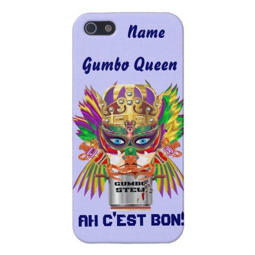 Karneval-Gumbo-Königin-Ansicht deutet bitte an iPhone 5 Case