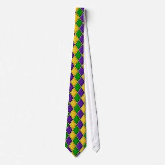 Karneval-Harlekin-Diamant-Krawatte Bedruckte Krawatte