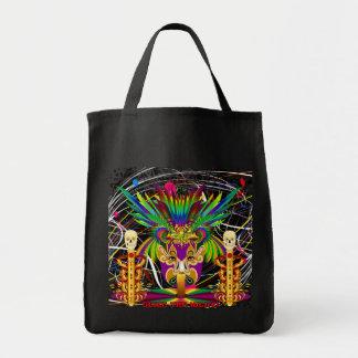 Karneval-Hexe Doktor-Schädel V-3-T Einkaufstasche