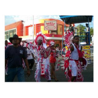 Karneval in San Fernando Trinidad Postkarte