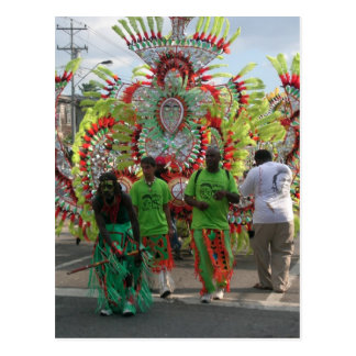 Karneval in Trinidad 2010 Postkarte