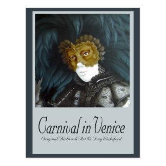 Karneval in Venedig Postkarte