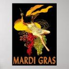 Karneval-Mädchen mit Trauben Poster